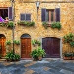 Characteristic street in Pienza, Italy