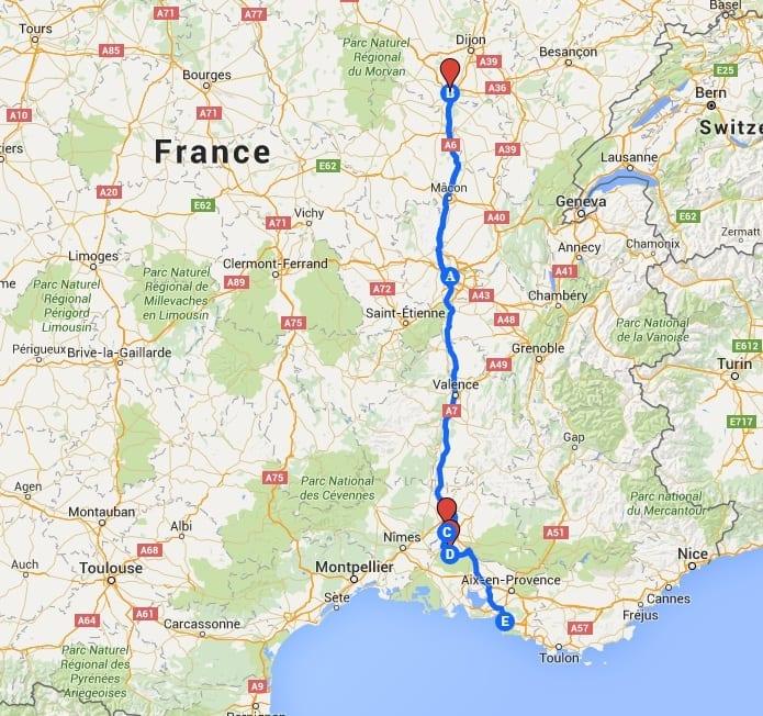 burgundy provence map