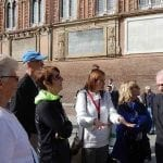 Enjoying a guided walking tour